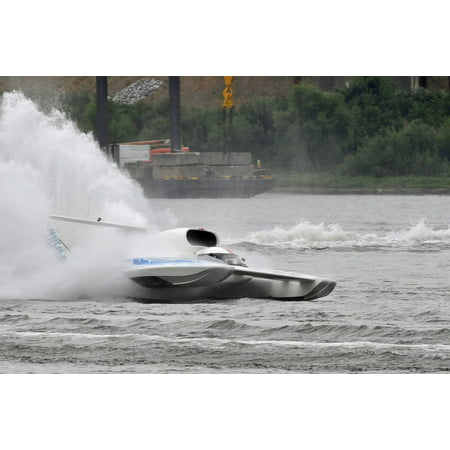 Framed Art for Your Wall Boat Hydroplane Fast Speed Water Hydro Racing  10x13 Frame
