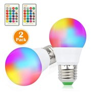 2pcs RGB RGBW LED Bulbs Magic Color Changing Lighting Decor Light + IR Remote Control