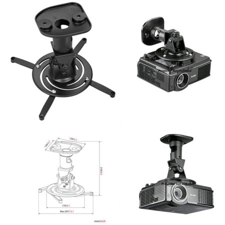 Image of Amer.Com AMRP100B Projector Universal Ceiling Mount, Black