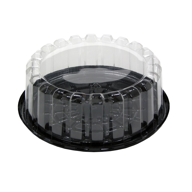 Pactiv YEH8-9702, 7-Inch Cake Container with Shallow Dome Lid, 100-Piece Case