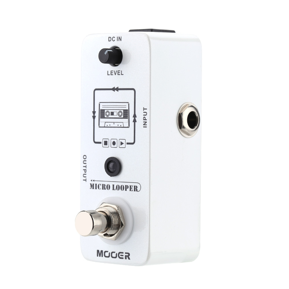 mooer micro looper mini loop recording effect pedal for electric guitar true bypass. Black Bedroom Furniture Sets. Home Design Ideas