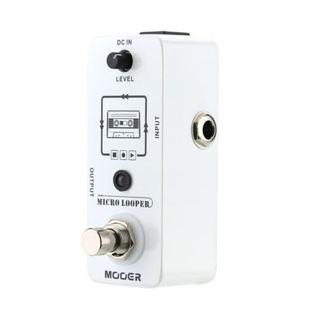 Loop Pedal (Mooer Micro looper Mini Loop recording Effect Pedal for Electric Guitar True)