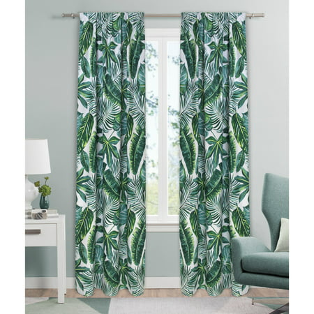 Mainstays Palm Leaf Single Curtain Panel