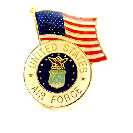 U.S. Air Force Insignia Seal With USA Flag Lapel Hat Pin Military PPM003 (1 pin)