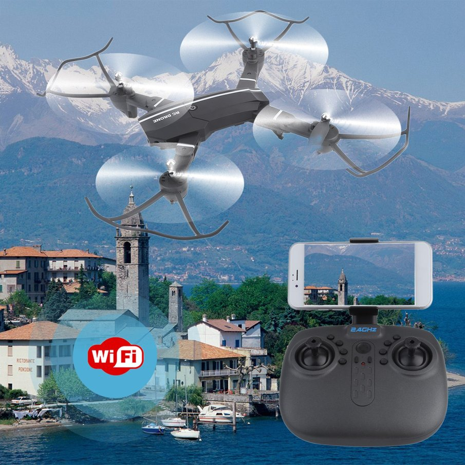 8807 Wireless Helicopter Mini Wifi RC Quadcopter With 0.3MP Camera Foldable 6-Axle Drone... by