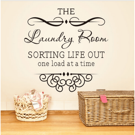 The Laundry Room Wall Sticker Art Vinyl Wall Decals Home Words Letters Decor New Black Friday Big Sale