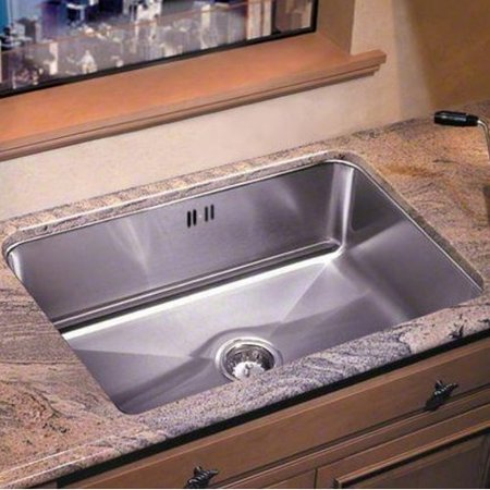 Just Manufacturing 24\'\' x 18\'\' Undermount Extra Deep Single Bowl ...