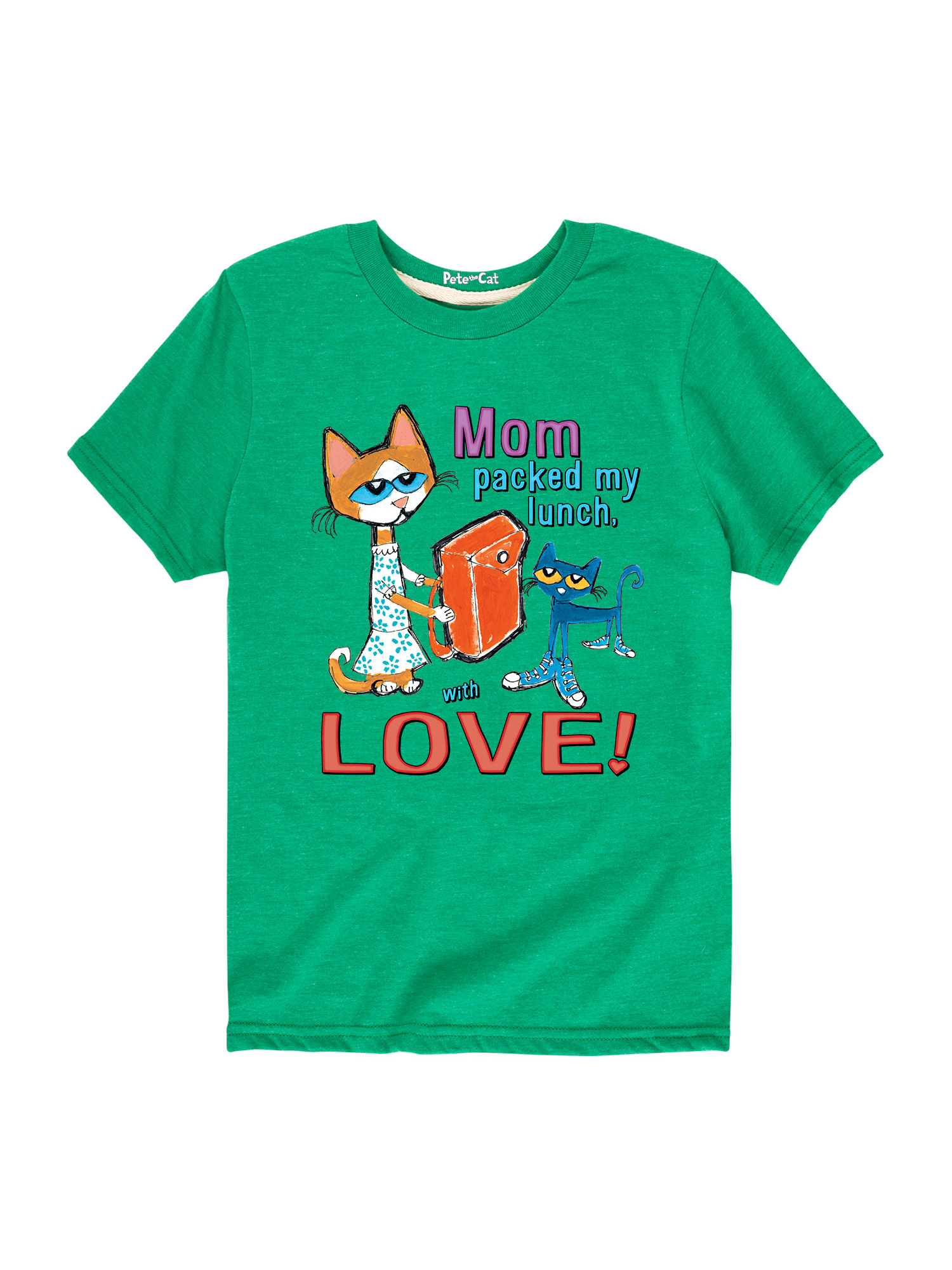 Pete The Cat Mom Packed My Lunch With Love Multi - Toddler Short Sleeve Tee