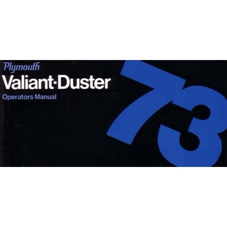 Bishko OEM Maintenance Owner's Manual Bound for Plymouth Duster, Valiant (1973 Plymouth Duster)