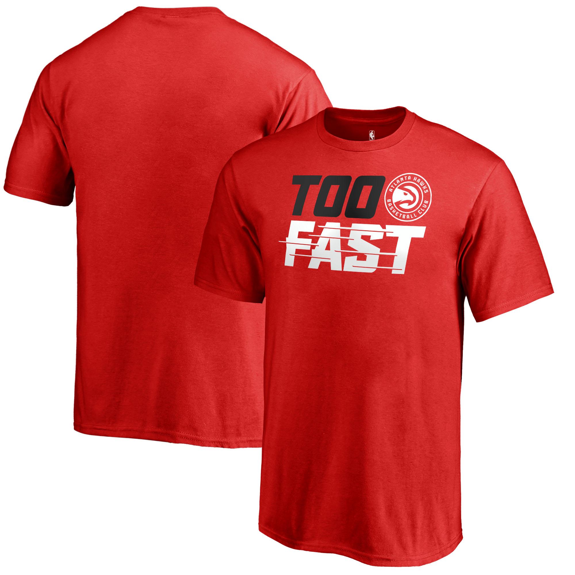 Atlanta Hawks Fanatics Branded Youth Too Fast T-Shirt - Red