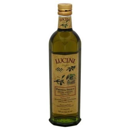 Lucini Extra Virgin Olive Oil, Premium Select, 17 Ounce (500ml), Glass Bottle