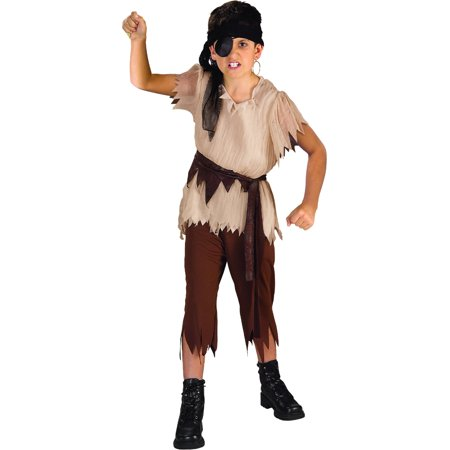 Child's Caribbean Pirate Captain Costume Boys Small 4-6](Pirate Costumes For Children)