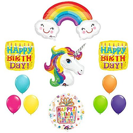 The Ultimate Happy Birthday Cake Letter Rainbow Unicorn Birthday