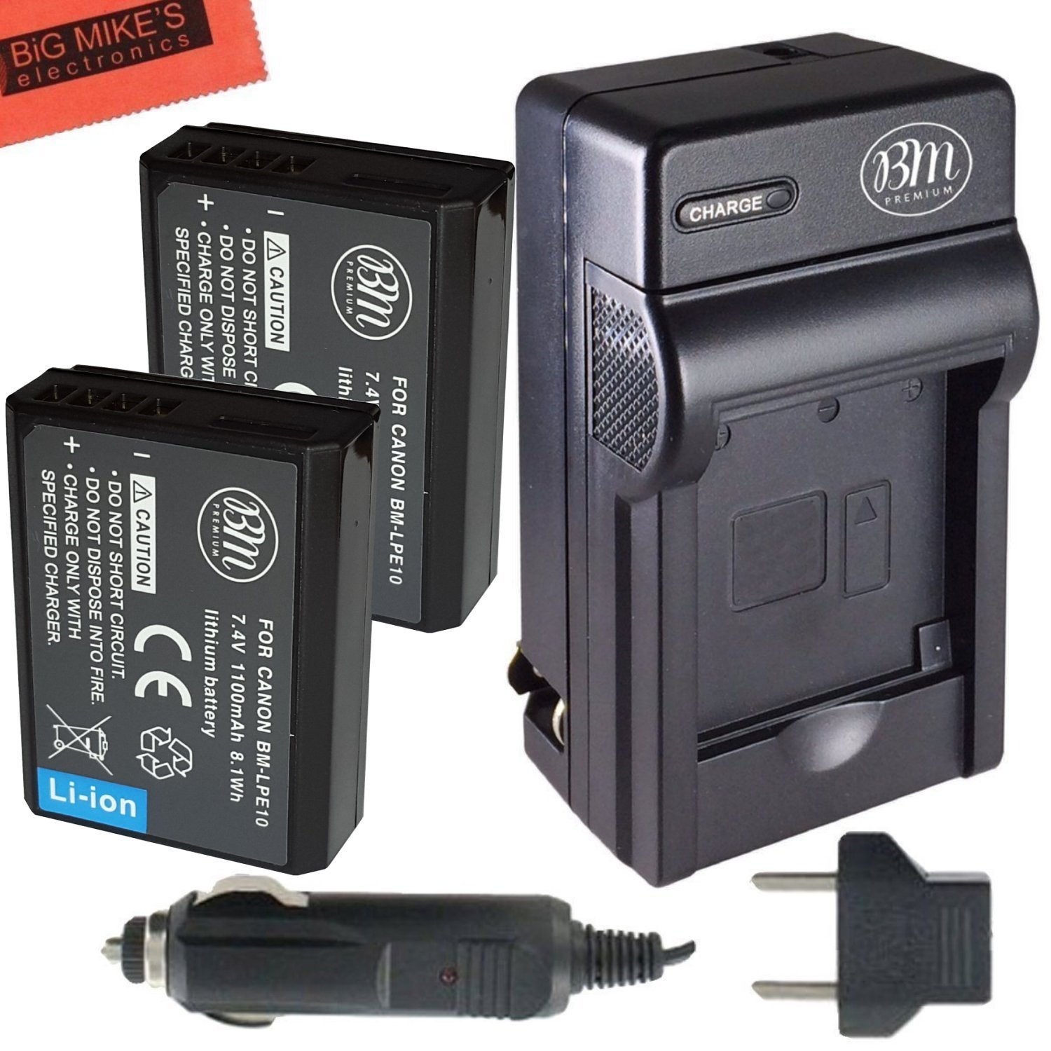Bm Premium 2 Pack Of Lp E10 Batteries And Battery Charger