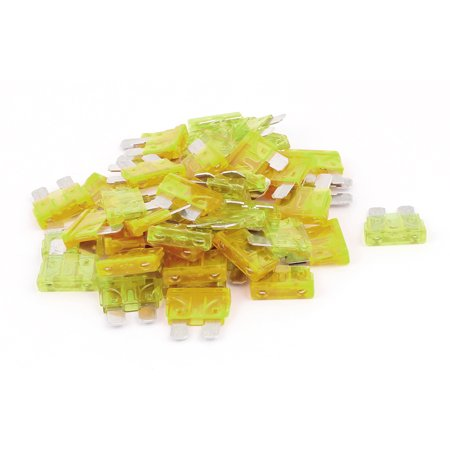 Unique Bargains 50pcs Auto Car Truck Vehicle Boat ATC ATO   Fuses 20A 5A Yellow - 5a Auto Fuse