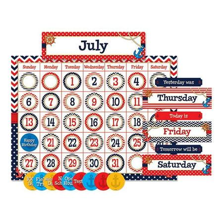 Teacher Created Resources TCR5492 Nautical Calendar Bulletin Board (Teacher Created Resources Calendar)