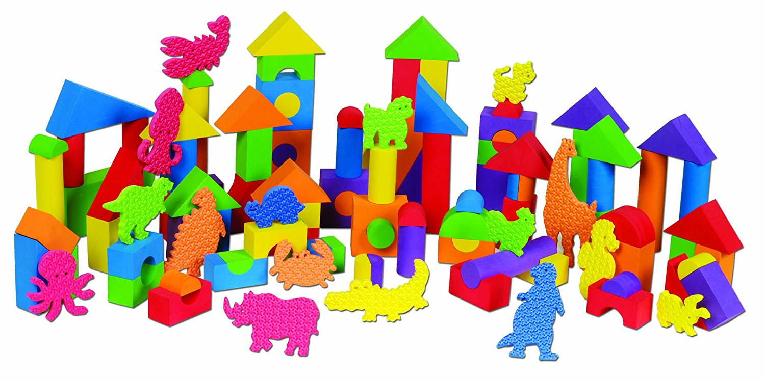 Small World Toys Preschool Build and Play (foam blocks) by