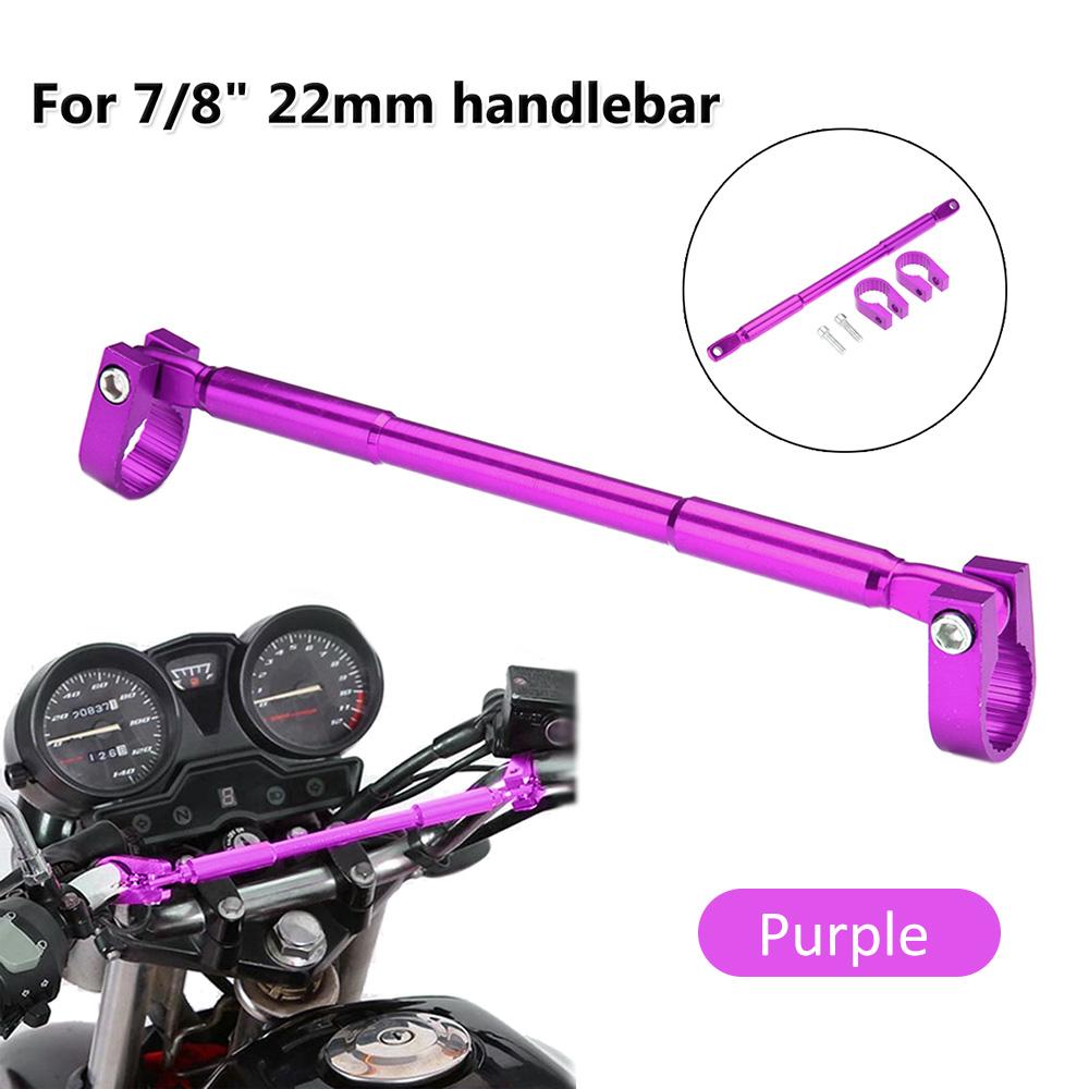 Adjustable Cross Bar Purple Motorbike Grips Handle Bar Steering Wheel Strengthen Aluminum Alloy Brace RONSHIN Universal 22mm Motorcycle Handlebar