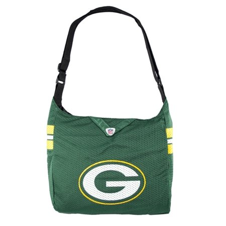 Nfl Team Fabric - NFL Green Bay Packers Team Jersey Tote Bag Cross Fabric Bag Teal Green