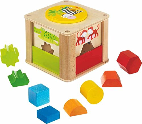 HABA Zookeeper Wooden Shape Sorting Box with a Twist - Ex...