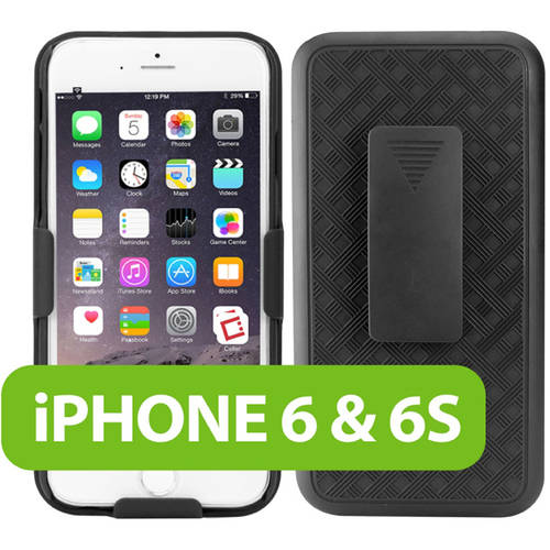 Cellet Shell + Holster + Kickstand Combo Case for Apple iPhone 6 and iPhone 6s