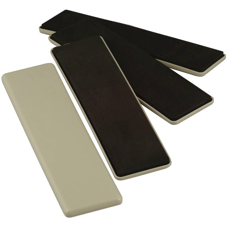 "Waxman Consumer Group 4703695N 2-1/2"" x 9"" Beige Reusable Furniture Sliders, 4 Count"