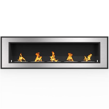 Regal Flame ER8017 Cynergy 72 in. Ventless Built-In Recessed Bio Ethanol Wall Mounted (Moda Flame Vigo Table Top Ethanol Fireplace)