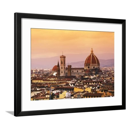 Italy, Florence, Tuscany, Western Europe, 'Duomo' Designed by Famed Italian Architect Brunelleschi, Framed Print Wall Art By Ken
