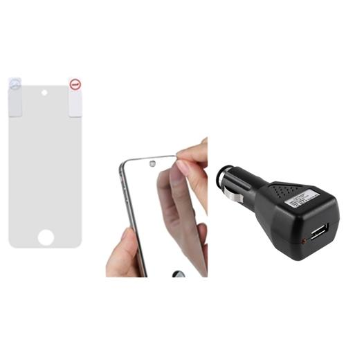 Insten Mirror LCD Screen Protector Case For iPod Touch 6 6G 5 5G + USB Car Charger