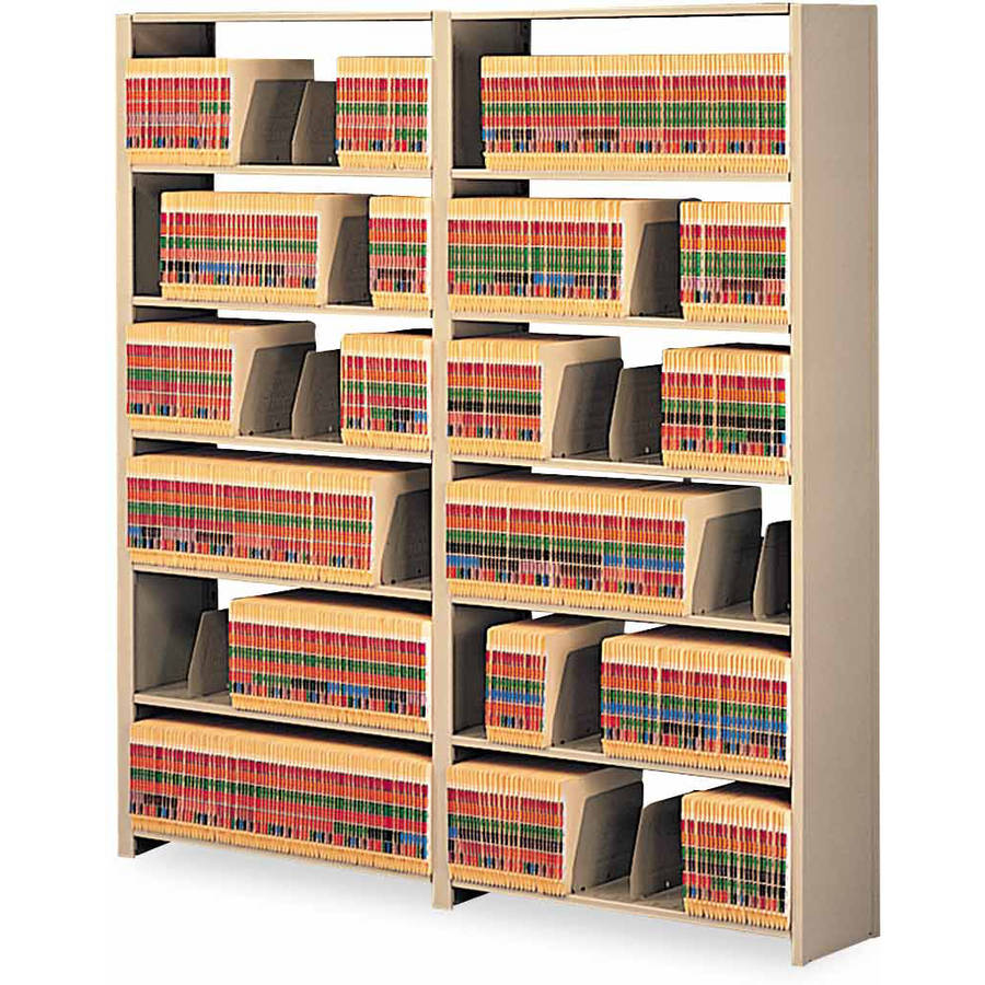 "Tennsco Snap-Together Steel 7-Shelf Closed Starter Set, 88""H, Sand"
