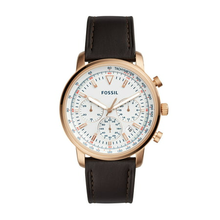 Men's Goodwin Chronograph Brown Leather Watch (Style: Fs5415)