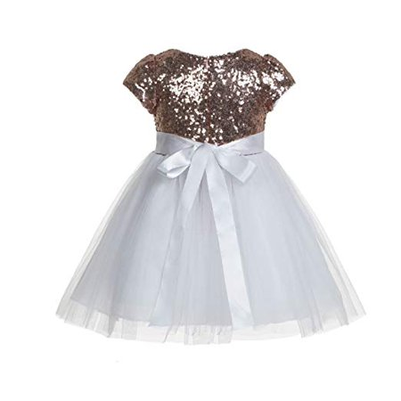 Toddler Cap And Gown (Ekidsbridal Cap Sleeves Sequins Flower Girl Dress Special Occasion Dresses Birthday Girl Dress Pageant Gown Princess Dresses Holiday Dresses Ballroom Gown Toddler Girl Dresses Daily Dresses)