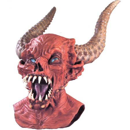 Demon Master Latex Mask Adult Halloween Accessory (Watch Ink Master Halloween)