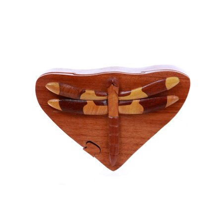 dragonfly Handcrafted Wooden Secret Jewelry Puzzle Box -Dragonfly - Walmart.com