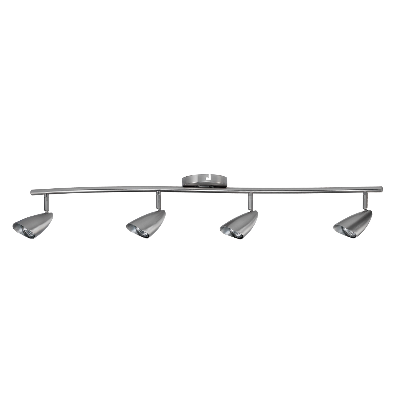 Globe Electric 50 Watt Grayson 4-Light Brushed Steel S-Shape Track Lighting Kit, Bulbs Included by Globe Electric
