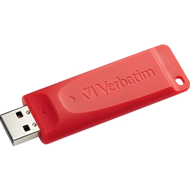 Verbatim 4GB Store 'n' Go USB Flash Drive - Red - 4 GB - USB - 1 Pack - Red