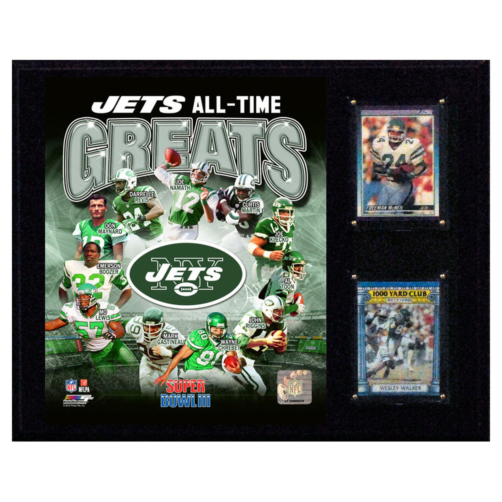 C&I Collectables NFL 12x15 New York Jets Jets Greats Plaque