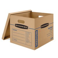 Bankers Box SmoothMove 3 Count Medium Moving Boxes
