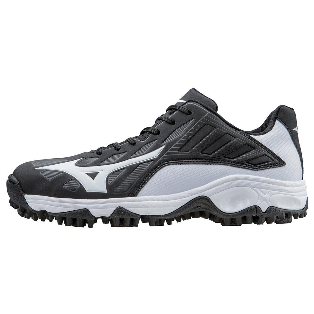 Mizuno 9-Spike Advanced Erupt 3 Baseball Turf Shoe Low Black White 10 by Mizuno USA, Inc.- Check Only