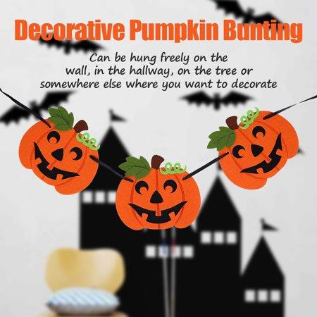 Yosoo Pumpkin Bunting Decorative Banner for Party Pub Festival Celebration Ornaments,Party Decor,Pumpkin Bunting