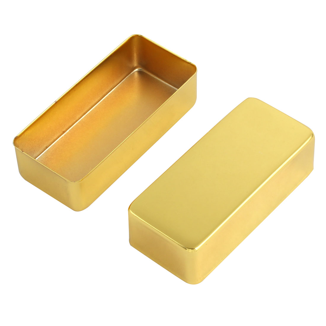 Acoustic No-Hole Humbucker Guitar Pickup Cover Gold Tone 2pcs