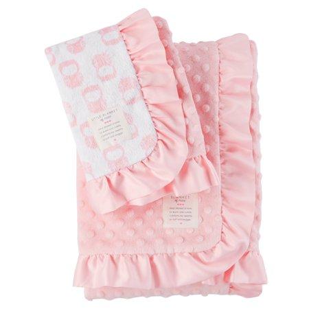 Child of Mine Baby Blanket Set, Pink 2 piece
