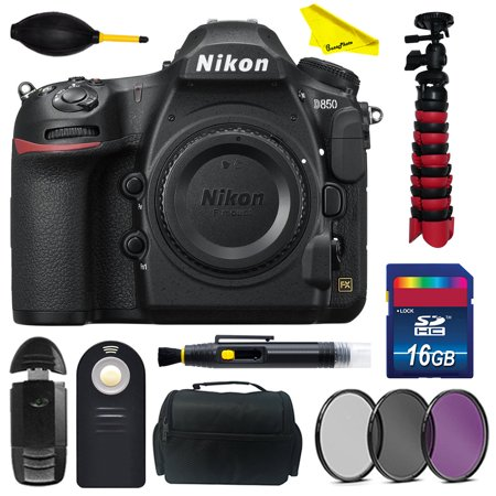 Nikon D850 DSLR Camera (Body Only) with BuzzPhoto Basic Accessories Kit