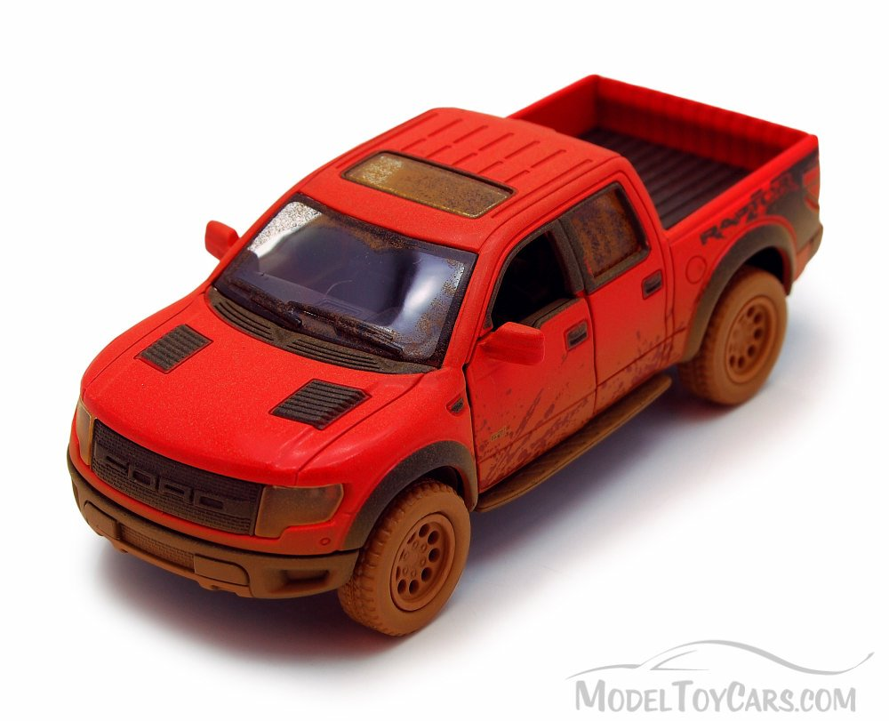 """New Kinsmart DIECAST CAR 5/"""" 2013 FORD F-150 SVT RAPTOR TRUCK MUDDY *CHOOSE COLOR"""