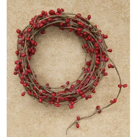 red single pip berry garland country primitive floral craft chirstmas