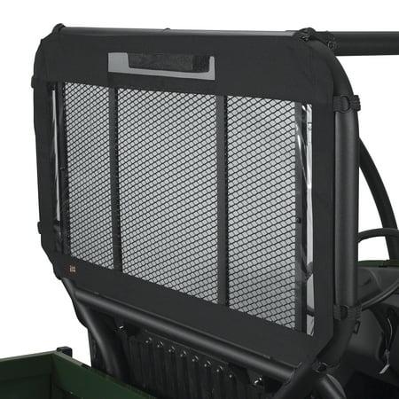 Utv Instant Windshield (Classic Accessories QuadGear UTV Rear Windshield, UTV Cover Fits Kawasaki® Mule 4000, 4010 4x4, 4010 4x4 Diesel (2015 models and older), Black)