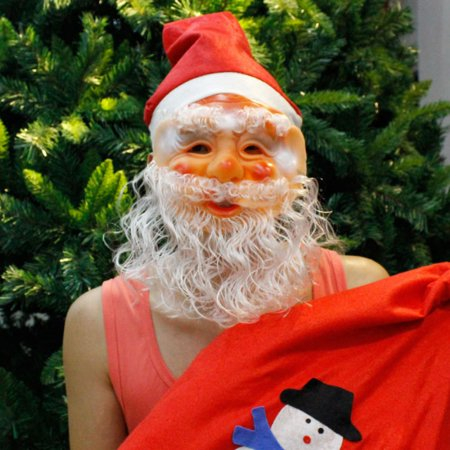FUNCEE Christmas Santa Claus Mask Full Face Covered For Christmas Costume (30's Halloween Costume Ideas)