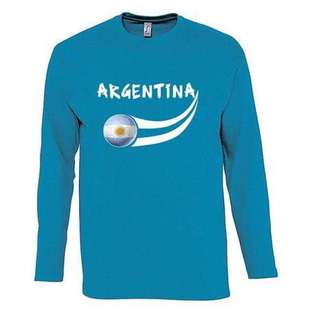 Supportershop ARLSBL XL Argentina Long Sleeve Mens Sky Blue