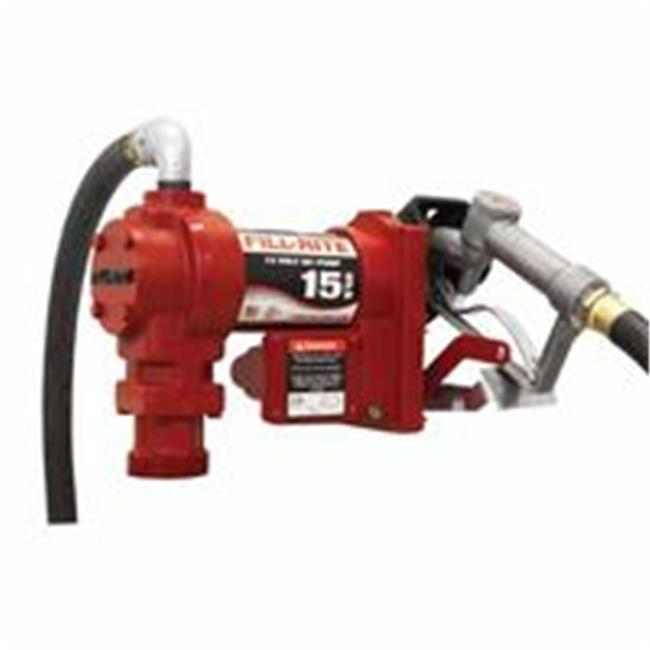 Fill-Rite 285-FR1210G Rotary Vane 12 V Dc Pump With 12 ft. Hose-Manual Nozle, 0.75 in. Outlet, 0.75 in. Inlet