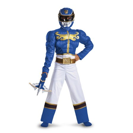 Power Rangers Blue Ranger Megaforce Muscle Chest Costume - Buy Power Rangers Costume